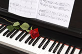 Piano with Rose